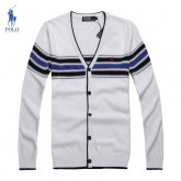 Gilet Polo Ralph Lauren Homme Col V Manches Longue Multicolor Destockage