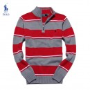 Pull Polo Ralph Lauren Homme Col montant Rayures Pas Cher France