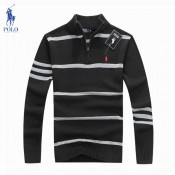 Pull Polo Homme Manches Longue Col montant Acheter Pas Cher