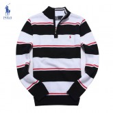 Pull Polo Homme Manches Longue Noir Achat Pas Cher