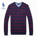 Pull Polo Homme Multicolor Col V France Pas Cher