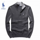 Pull Polo Homme Pures Couleurs Col montant Manches Longue Marque Pas Cher