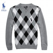 Pull Polo Homme Col V Manches Longue Blanc Carree Moins Cher