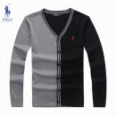 Gilet Polo Homme Col V Multicolor Destockage