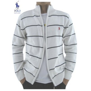 Gilet Polo Homme Manches Longue Blanc Rayures Site Pas Cher