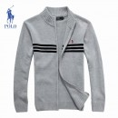 Gilet Polo Homme Pures Couleurs Col montant Manches Longue France