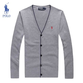 Gilet Polo Homme Pures Couleurs Gris Manches Longue Col V Outlet Online
