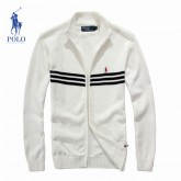 Gilet Polo Homme Blanc Col montant Usine