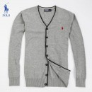 Gilet Polo Homme Col V Gris Pures Couleurs Magasin Usine