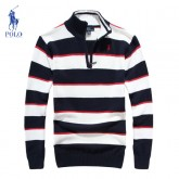 Pull Polo Homme Manches Longue Multicolor Outlet Paris