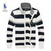 Gilet Polo Homme Col montant Manches Longue Destockage