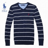 Pull Polo Homme Bleu Rayures Col V Boutique Pas Cher