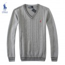 Pull Polo Homme Pures Couleurs Gris Pas Cher Solde