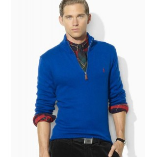 Pull Polo Homme Pures Couleurs Manches Longue Soldes