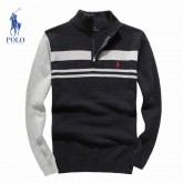 Pull Polo Ralph Lauren Homme Col montant Manches Longue Nouvelle Collection