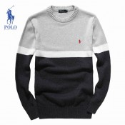 Pull Polo Ralph Lauren Homme Col rond Manches Longue Noir Multicolor Magasin France