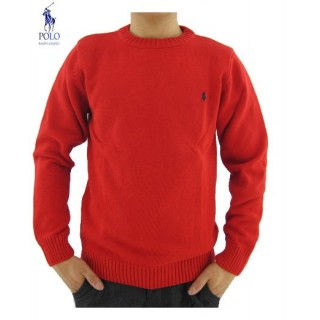Pull Polo Ralph Lauren Homme Col rond Rouge Boutique Lille