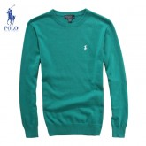 Pull Polo Ralph Lauren Homme Col rond Vert Soldes Boutique
