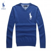 Pull Polo Homme Col V Manches Longue Pas Cher