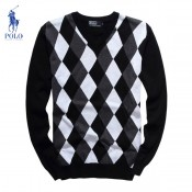 Pull Polo Homme Col V Manches Longue Multicolor Soldes Pas Cher