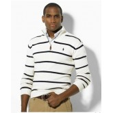 Pull Polo Homme Col V Manches Longue Rayures Pas Cher Fr