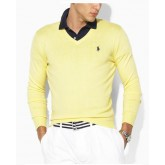 Pull Polo Homme Col V Pures Couleurs Marque Pas Cher