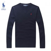 Pull Polo Homme Col V Pures Couleurs Pas Cher Solde