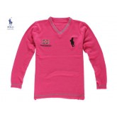 Pull Polo Homme Col V Pures Couleurs Rose Paris