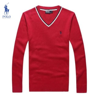 Pull Polo Homme Col V Rouge France