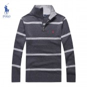 Pull Polo Homme Gris Col montant Moins Cher