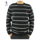 Pull Polo Ralph Lauren Homme Manches Longue Col rond Rayures Noir Magasin Lille