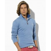 Pull Polo Ralph Lauren Homme Manches Longue Col V Bleu Pures Couleurs Magasin France