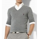 Pull Polo Ralph Lauren Homme Manches Longue Col V Pures Couleurs Solde