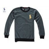 Pull Polo Homme Manches Longue Pures Couleurs Vert Soldes Pas Cher
