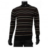 Pull Polo Homme Multicolor Col rond Manches Longue Blanc Pas Cher Solde