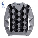 Pull Polo Homme Multicolor Col V Soldes