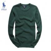 Pull Polo Homme Pures Couleurs Manches Longue Vert Destockage
