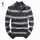 Pull Polo Homme Rayures Gris Boutique Paris