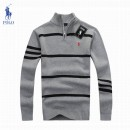 Pull Polo Homme Rayures Manches Longue Pas Chere