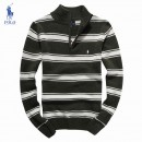 Pull Polo Homme Vert Col montant Site Pas Cher